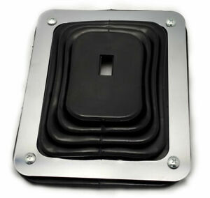 Hot Rod Rubber Shifter Boot With Chrome Plate 5 5 8 X 6 3 4 Universal