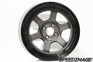 Rota Wheels Grid V 15x9 0 4x100 Gunmetal Black Lip Miata E30 Civic Integra Xb