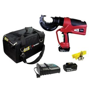 Burndy Hydraulic Self contained Lithium ion 12 ton Crimper W pro Bag