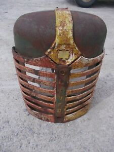 Oliver 88 Tractor Original Front Nose Cone Grill Radiator Cover W Emblem