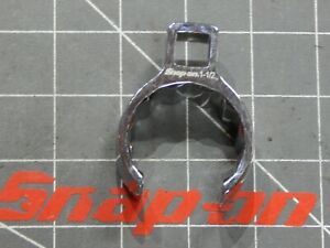 Snap On 1 2 Dr Deep Flare Nut Crowfoot Wrench 1 1 2 12pt Chrome Laser Logo