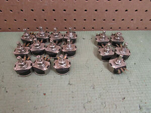 16 Pcs Vintage Cts 10 Ohm Potentiometer Cts722 Ds13070 Cts739 Quality Usa