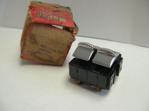 1955 1956 Chrysler Nos Double Power Window Switch Nice Part Works Perfect Nib