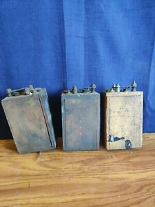3 Antique Model T Wooden Buzz Box Ignition Coil Genuine K W Made In Usa