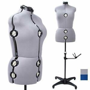 13 Dials Female Fabric Adjustable Mannequin Dress Form For Sewing Gray