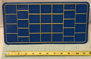 Nos California Blue Yellow Bingo License Plate Big Rig Kenworth Freightliner