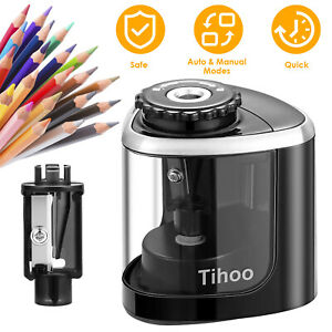 Electric Pencil Sharpener Automatic Battery Operated For Kids Home School Office
