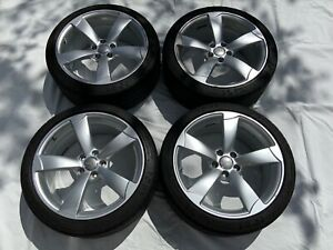 Used Set Of 4 Oem 2008 audi Tt 19 Aluminum Rims With Tpms And Tires