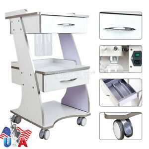 Ups Dental Trolley Mobile Metal Built in Socket Tool Cart With Auto water Bottle