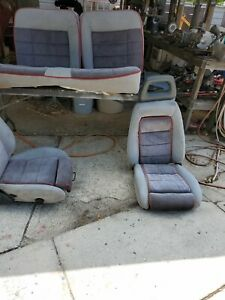 1985 1986 Mustang Gt Oem Front And Rear Seat Assembly Gray