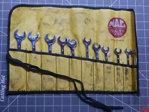 Mac 11pc Metric 4 Way Angle Head Open End Wrench Set 9mm 19mm Sdam11k Pouch