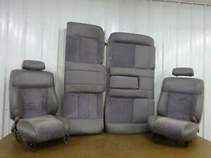 Mercury Cougar Front And Rear Seat Set Gray Bucket Cloth Leather 2 Door 1995