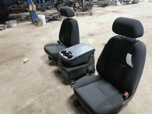 Front Seats With Jump Seat Black Cloth Fits 11 Sierra 1500 Pickup 741770