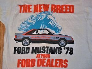 1979 Ford Mustang Pace Car Promo T Shirt Rare Never For Sale