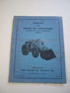 Ih Hough He Front end Wheel Pay Loader Tractor Parts Catalog Manual List