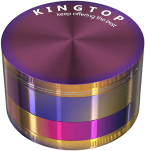 Kingtop Herb Spice Grinder Large 3 0 Inch Colorful Free Shipping