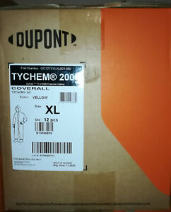 Case Of 12 Dupont Tychem Coverall With Hood Qc127s M 5xl Yellow
