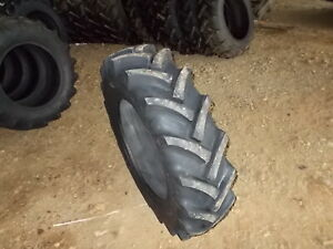 Two 11 2 24 8 Ply R1 Tractor Tires