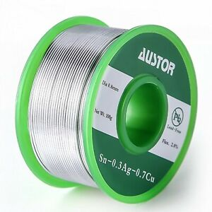 Austor 0 8mm Lead Free Solder Wire With Rosin Core 0 8mm 100g