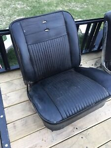 Corvair Bucket Seats Mid 60s Black Hot Rat Rod T Bucket Gm Chevy Low Back