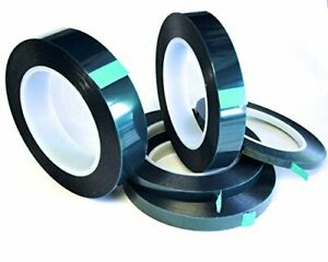 5 Roll High Temp Masking Tape Kit For Powder Coating Painting Hydrodip Sublim