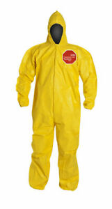 Dupont Tychem 2000 Coverall With Hood Qc127s Large