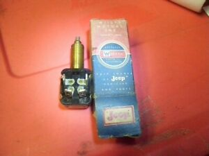 nos Willys Jeep Trans Overdrive Kickdown Switch 2wd Pd Sw Jeepster Part 649790