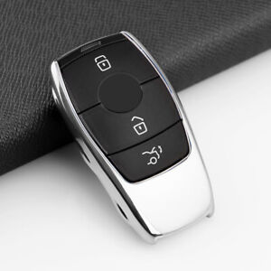 For Mercedes Benz Silver Tpu Smart Key Case Shell Cover A C E S Class Gle Cls
