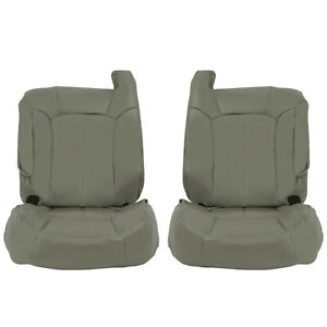 For 2000 2002 Chevy Tahoe Suburban Driver Passenger Set Bottom Top Seat Covers