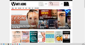 Anti Aging News Guides affiliate Product Website 100 Automated Website
