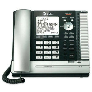 New At t Ms2015 4 Line Business System Desk Phone Black silver