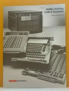 Keithley Instruments Switching Card Accessories Catalog