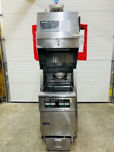 Pitco Ph sef184 s Giles Fsh 2 ph Combo Fryer W Oil Filtration Tested Working