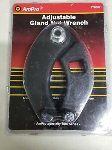 Adjustable Gland Nut Wrench Pin Spanner Tools Fit For Hydraulic Cylinders 2 6