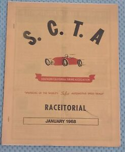 Rare Scta Racetorial January 68 Booklet El Mirage Land Speed Bonneville 32 Ford