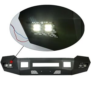 Black Front Bumper W Leds For 2011 2016 2 4wd Ford F250 F350 Heavy Duty New
