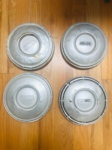 Set Of 4 Ford Dog Dish Hubcaps 1960s 70s 10 5 Diameter