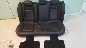15 16 17 18 Dodge Charger Hellcat Rear Seat Oem Black Leather Nice