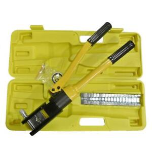 16 Ton Hydraulic Wire Terminal Crimper Battery Cable Lug Crimping Tool Case