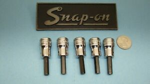 Lot Of 5 Vintage Snap On Tools 3 8 Drive 1 4 Inch Hex Socket Drivers Fa 8a