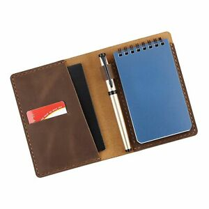 Leather Cover Compatible For Rite In The Rain Top Spiral Notebook Handmade 3