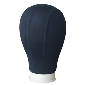 Cork Canvas Block Head Mannequin Wig Display Style Dry Dye With Mount Hole Wig