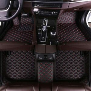 Custom Car Floor Mats Fit For Chevrolet For Chevy Tahoe 2007 2014 Black Red