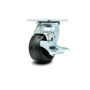 Cs4b Greenlee Swivel Caster With Brake Ma6065 Gmx Cart Caster Replacement Scc