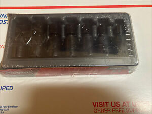 New Snap On 207ipfm 7 Piece Shallow Swivel Impact Socket Set