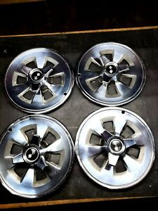 1965 Chevy Corvette Wheel Covers Set Of 4 Original Hubcaps Spinners Chevrolet