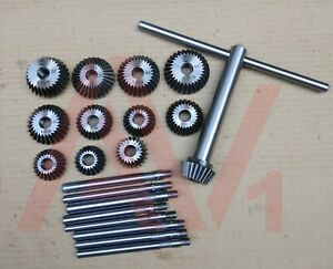 12 Piece Valve Seat Face Cutter Set Of 12 Pcs Carbon Steel With Wooden Box