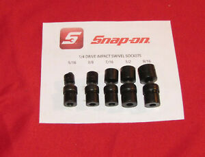 Snap on Impact Swivel Socket Set 1 4 Drive 6pt