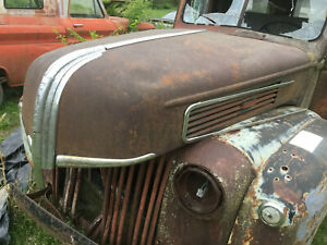 1941 Ford Pickup Truck Hood With Latch Staineless Trim 3 4 1 Ton Ratrod Look