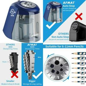 Electric Pencil Sharpener Heavy Duty Pencil Sharpener With 6 Size Dial Auto St